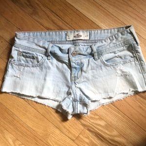 Light Wash Hollister Co Denim Shorts Size 5
